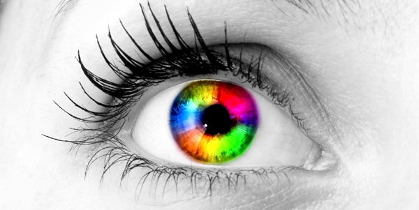An eye that is of every color. The eye of a LUX group graphic designer