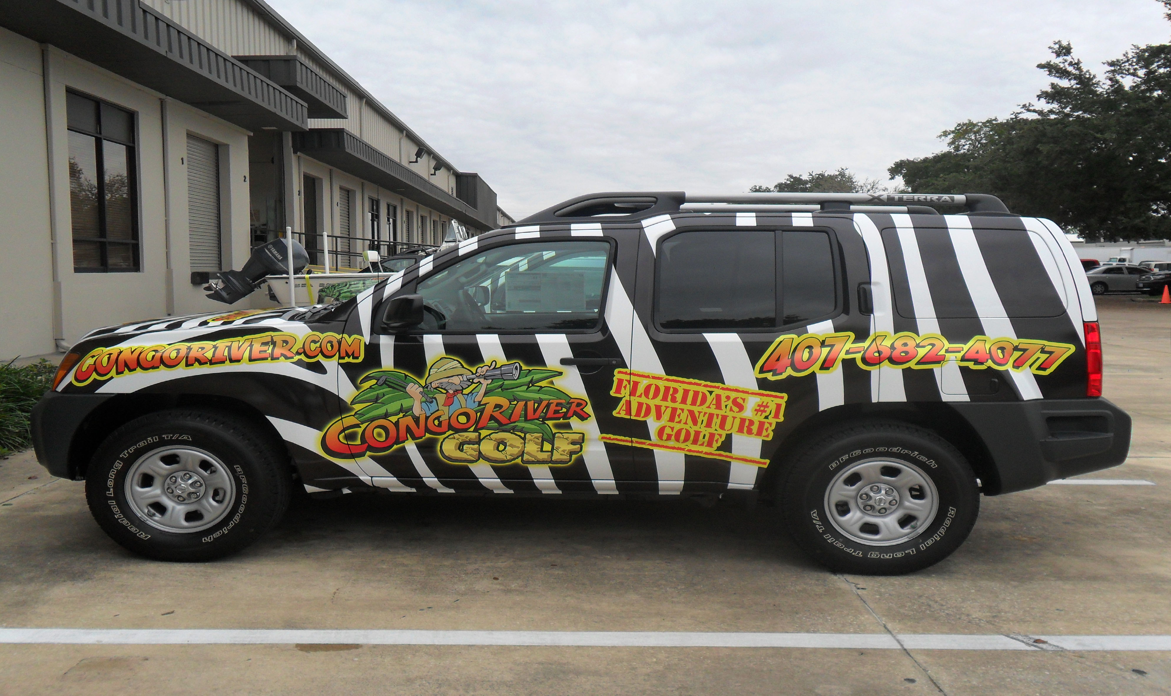 sponsorship marketing used on Xterra for Congo River golf