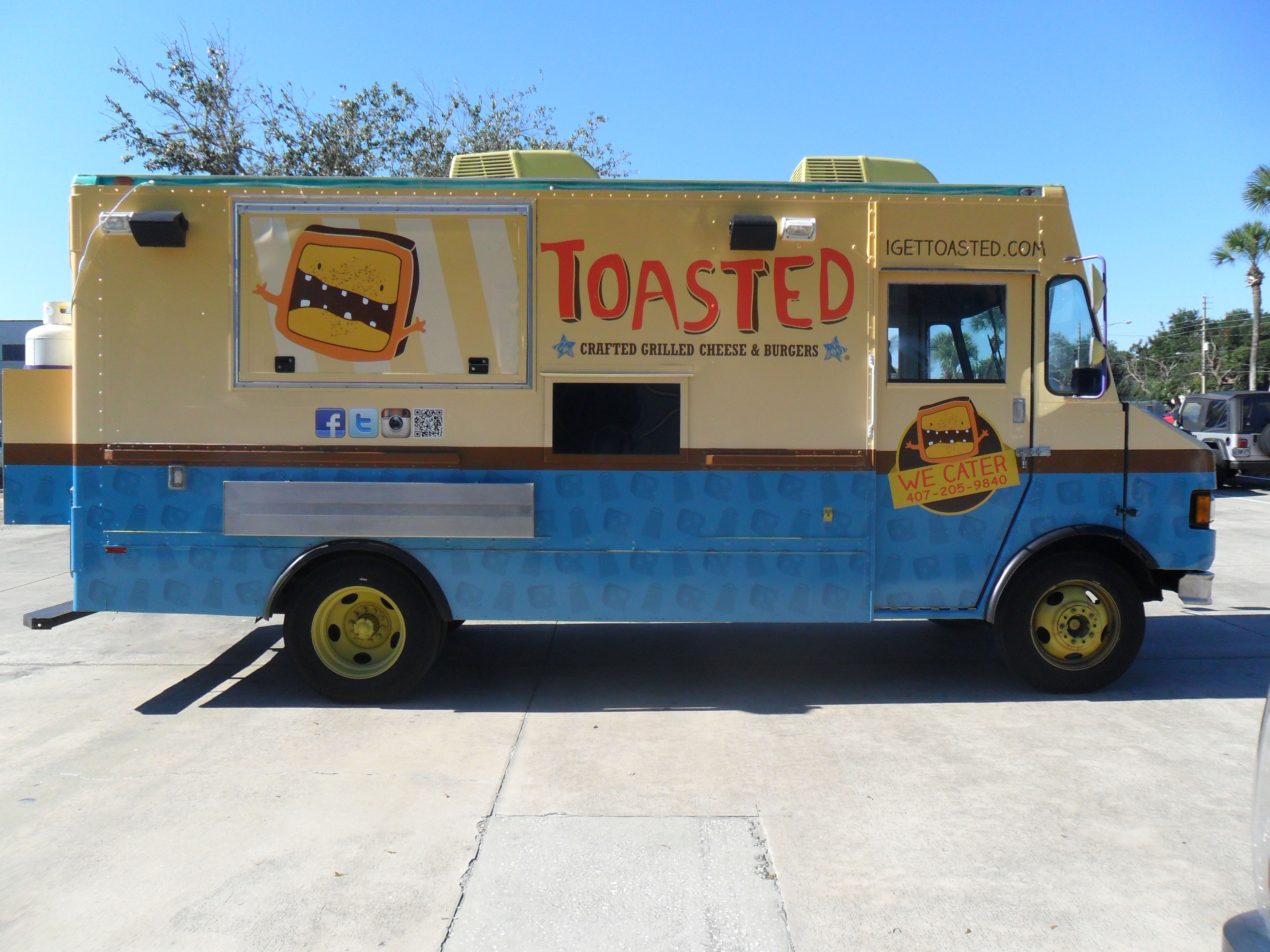 sponsorship marketing used on food truck for Toasted